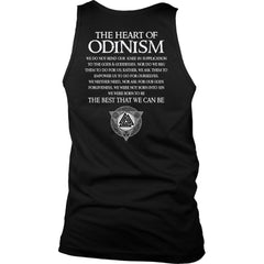 Teelaunch, Odinism, BackT-shirt[Heathen By Nature authentic Viking products]District Mens TankBlackS