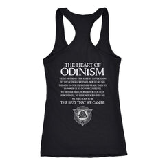 Teelaunch, Odinism, BackT-shirt[Heathen By Nature authentic Viking products]Next Level Racerback TankBlackXS