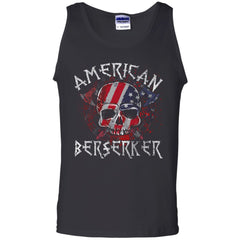 Viking apparel, American berserker, FrontApparel[Heathen By Nature authentic Viking products]Cotton Tank TopBlackS