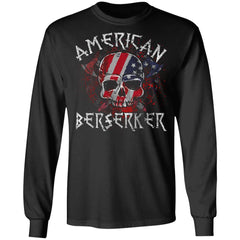 Viking apparel, American berserker, FrontApparel[Heathen By Nature authentic Viking products]Long-Sleeve Ultra Cotton T-ShirtBlackS