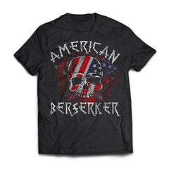 Viking apparel, American berserker, FrontApparel[Heathen By Nature authentic Viking products]Next Level Premium Short Sleeve T-ShirtBlackX-Small