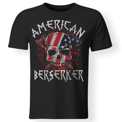 Viking apparel, American berserker, FrontApparel[Heathen By Nature authentic Viking products]Premium Men T-ShirtBlackS