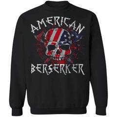 Viking apparel, American berserker, FrontApparel[Heathen By Nature authentic Viking products]Unisex Crewneck Pullover SweatshirtBlackS