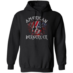 Viking apparel, American berserker, FrontApparel[Heathen By Nature authentic Viking products]Unisex Pullover HoodieBlackS