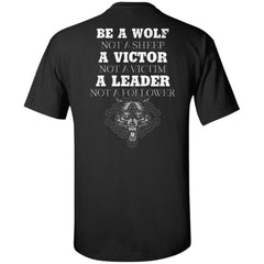 Viking apparel, be a wolf, backApparel[Heathen By Nature authentic Viking products]Tall Ultra Cotton T-ShirtBlackXLT