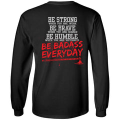 Viking apparel, be strong, backApparel[Heathen By Nature authentic Viking products]Long-Sleeve Ultra Cotton T-ShirtBlackS