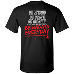 Viking apparel, be strong, backApparel[Heathen By Nature authentic Viking products]Tall Ultra Cotton T-ShirtBlackXLT