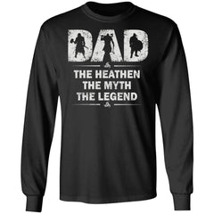Viking apparel, Dad, myth, legend, frontApparel[Heathen By Nature authentic Viking products]Long-Sleeve Ultra Cotton T-ShirtBlackS