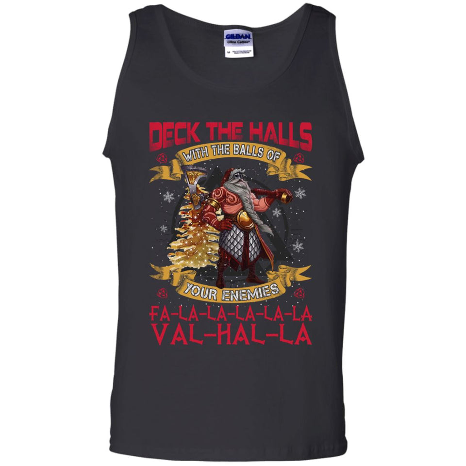 Viking apparel, Deck the halls with the ballsApparel[Heathen By Nature authentic Viking products]Cotton Tank TopBlackS