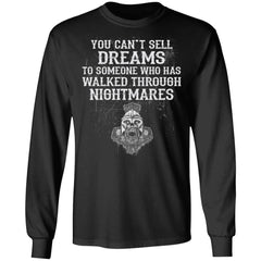 Viking apparel, Dreams, Nightmares, frontApparel[Heathen By Nature authentic Viking products]Long-Sleeve Ultra Cotton T-ShirtBlackS