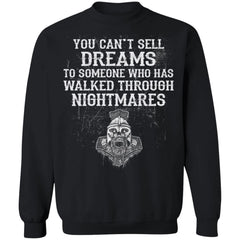 Viking apparel, Dreams, Nightmares, frontApparel[Heathen By Nature authentic Viking products]Unisex Crewneck Pullover SweatshirtBlackS