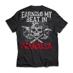 Viking apparel, earning, seat, backApparel[Heathen By Nature authentic Viking products]Next Level Premium Short Sleeve T-ShirtBlackX-Small
