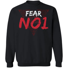 Viking apparel, Fear No 1, frontApparel[Heathen By Nature authentic Viking products]Unisex Crewneck Pullover SweatshirtBlackS