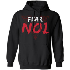Viking apparel, Fear No 1, frontApparel[Heathen By Nature authentic Viking products]Unisex Pullover HoodieBlackS