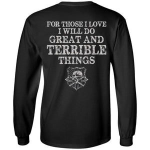 Viking apparel, For those I love, backApparel[Heathen By Nature authentic Viking products]Long-Sleeve Ultra Cotton T-ShirtBlackS