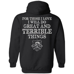 Viking apparel, For those I love, backApparel[Heathen By Nature authentic Viking products]Unisex Pullover HoodieBlackS