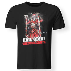 Viking apparel, Hail Odin The Real Santa, FrontApparel[Heathen By Nature authentic Viking products]Premium Men T-ShirtBlackS
