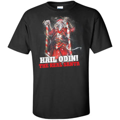 Viking apparel, Hail Odin The Real Santa, FrontApparel[Heathen By Nature authentic Viking products]Tall Ultra Cotton T-ShirtBlackXLT