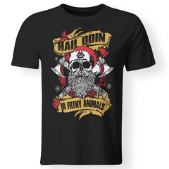 Viking apparel, Hail Odin Ya Filthy Animal, FrontApparel[Heathen By Nature authentic Viking products]Premium Men T-ShirtBlackS