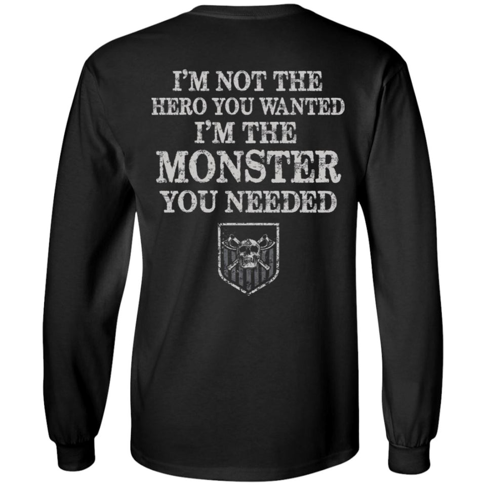 Viking apparel, hero, monster, backApparel[Heathen By Nature authentic Viking products]Long-Sleeve Ultra Cotton T-ShirtBlackS