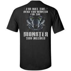 Viking apparel, hero, monster, backApparel[Heathen By Nature authentic Viking products]Tall Ultra Cotton T-ShirtBlackXLT