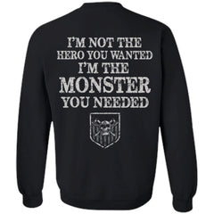Viking apparel, hero, monster, backApparel[Heathen By Nature authentic Viking products]Unisex Crewneck Pullover SweatshirtBlackS