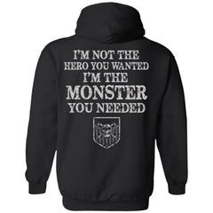 Viking apparel, hero, monster, backApparel[Heathen By Nature authentic Viking products]Unisex Pullover HoodieBlackS