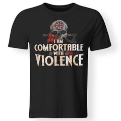 Viking Apparel, I Am Comfortable With Violence, FrontApparel[Heathen By Nature authentic Viking products]Premium Men T-ShirtBlackS