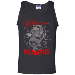 Viking Apparel, Krampus, FrontApparel[Heathen By Nature authentic Viking products]Cotton Tank TopBlackS