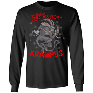 Viking Apparel, Krampus, FrontApparel[Heathen By Nature authentic Viking products]Long-Sleeve Ultra Cotton T-ShirtBlackS