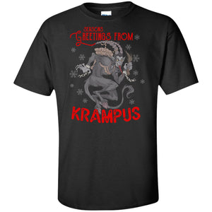 Viking Apparel, Krampus, FrontApparel[Heathen By Nature authentic Viking products]Tall Ultra Cotton T-ShirtBlackXLT