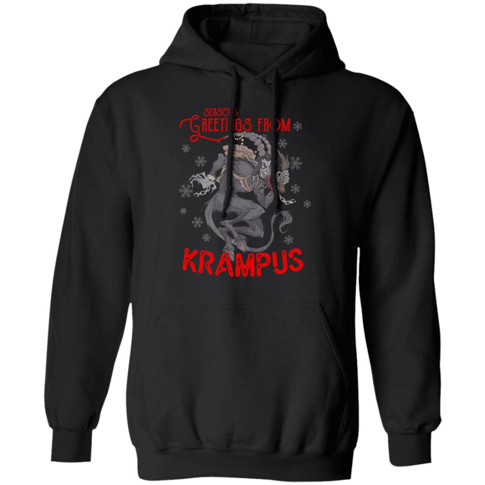 Viking Apparel, Krampus, FrontApparel[Heathen By Nature authentic Viking products]Unisex Pullover HoodieBlackS
