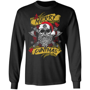 Viking apparel, Merry Cuntmas, FrontApparel[Heathen By Nature authentic Viking products]Long-Sleeve Ultra Cotton T-ShirtBlackS