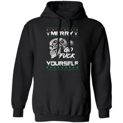 Viking apparel, Merry go f**k yourselfApparel[Heathen By Nature authentic Viking products]Unisex Pullover HoodieBlackS
