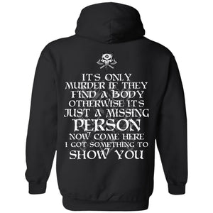 Viking apparel, murder, person, backApparel[Heathen By Nature authentic Viking products]Unisex Pullover HoodieBlackS