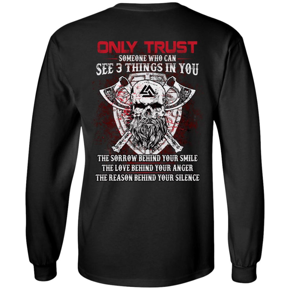 Viking apparel, Only trust someone who, BackApparel[Heathen By Nature authentic Viking products]Long-Sleeve Ultra Cotton T-ShirtBlackS
