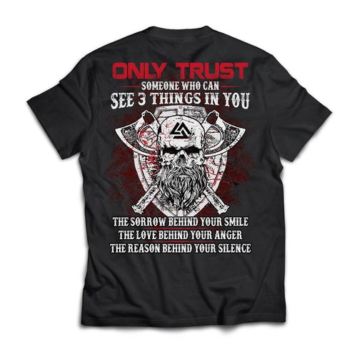 Viking apparel, Only trust someone who, BackApparel[Heathen By Nature authentic Viking products]Next Level Premium Short Sleeve T-ShirtBlackX-Small