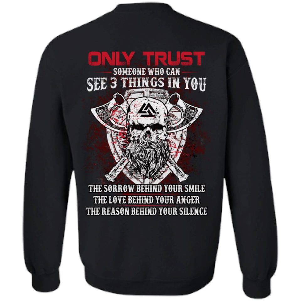 Viking apparel, Only trust someone who, BackApparel[Heathen By Nature authentic Viking products]Unisex Crewneck Pullover SweatshirtBlackS