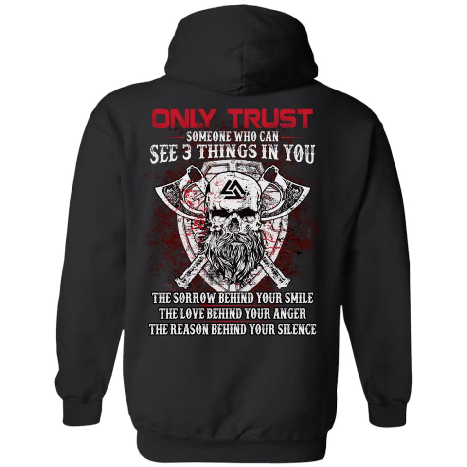 Viking apparel, Only trust someone who, BackApparel[Heathen By Nature authentic Viking products]Unisex Pullover HoodieBlackS
