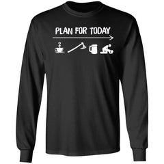 Viking Apparel, Plan For Today, FrontApparel[Heathen By Nature authentic Viking products]Long-Sleeve Ultra Cotton T-ShirtBlackS