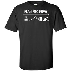 Viking Apparel, Plan For Today, FrontApparel[Heathen By Nature authentic Viking products]Tall Ultra Cotton T-ShirtBlackXLT