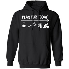 Viking Apparel, Plan For Today, FrontApparel[Heathen By Nature authentic Viking products]Unisex Pullover Hoodie 8 oz.BlackS