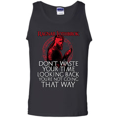 Viking apparel, Ragnar Lothbrok, frontApparel[Heathen By Nature authentic Viking products]Cotton Tank TopBlackS