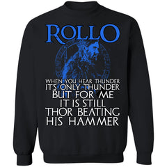 Viking apparel, Rollo, frontApparel[Heathen By Nature authentic Viking products]Unisex Crewneck Pullover SweatshirtBlackS