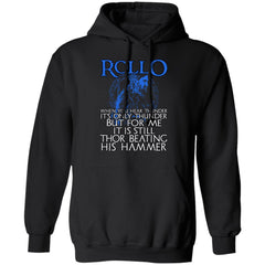 Viking apparel, Rollo, frontApparel[Heathen By Nature authentic Viking products]Unisex Pullover HoodieBlackS