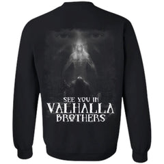 Viking apparel, See you, Valhalla, backApparel[Heathen By Nature authentic Viking products]Unisex Crewneck Pullover SweatshirtBlackS
