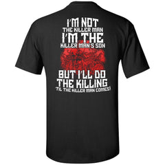 Viking apparel, the killer man, backApparel[Heathen By Nature authentic Viking products]Tall Ultra Cotton T-ShirtBlackXLT