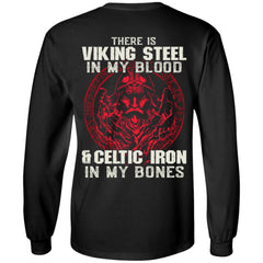 Viking apparel, There is viking steel, backApparel[Heathen By Nature authentic Viking products]Long-Sleeve Ultra Cotton T-ShirtBlackS