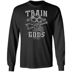 Viking apparel, Train as the gods, frontApparel[Heathen By Nature authentic Viking products]Long-Sleeve Ultra Cotton T-ShirtBlackS