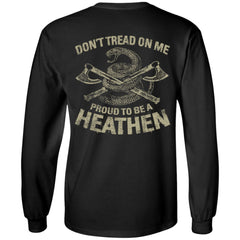 Viking apparel, tread, proud, backApparel[Heathen By Nature authentic Viking products]Long-Sleeve Ultra Cotton T-ShirtBlackS